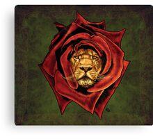 The Lion Rose Canvas Print