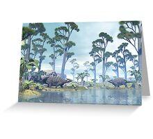 Ankylosaurus Greeting Card