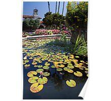 Mission Fountain Pond (San Juan Capistrano Spanish Mission, California) Poster