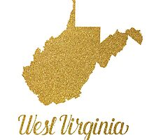West Virginia state map by AnnaGo