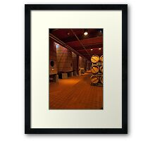 Red Wine Aging Vats (Robert Mondavi Winery, Napa Valley, California) Framed Print