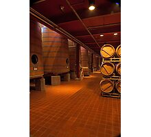 Red Wine Aging Vats (Robert Mondavi Winery, Napa Valley, California) Photographic Print