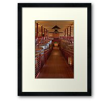 Red Wine Vats (Robert Mondavi Winery, Napa Valley, California) Framed Print