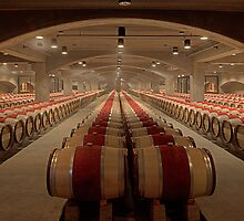 Wine Cellar (Robert Mondavi Winery, Napa Valley, California) by Brendon Perkins