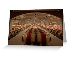 Wine Cellar (Robert Mondavi Winery, Napa Valley, California) Greeting Card