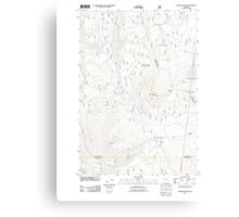 USGS Topo Map Oregon Pinhead Buttes 20110811 TM Canvas Print