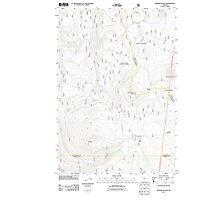 USGS Topo Map Oregon Pinhead Buttes 20110811 TM Photographic Print