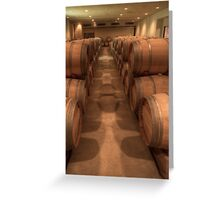 White Wine Aging Room (Robert Mondavi Winery, Napa Valley, California) Greeting Card