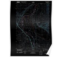 USGS Topo Map Idaho Payette 20110819 TM Inverted Poster