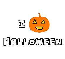 I Heart Halloween Photographic Print