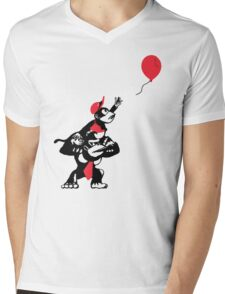 Balloon Apes Mens V-Neck T-Shirt