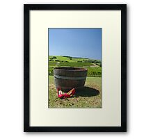 Stomping the Grapes Framed Print