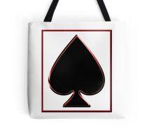 Black Spade in a Frame Tote Bag