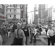 NYC rush! Photographic Print