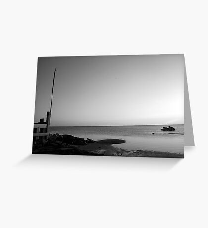 Point of Solace Greyscale Greeting Card