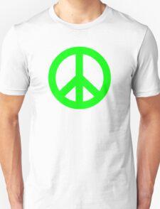 Bright Green Peace Sign Symbol T-Shirt
