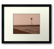 Lonely Windmill Framed Print