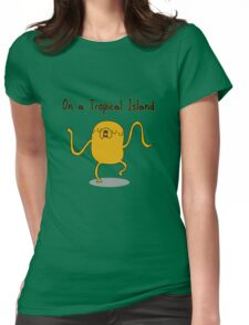 Adventure Time On a Tropical Island Womens Fitted T-Shirt