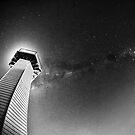 Milky way with lighthouse by Mel Brackstone