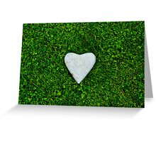 Green love Greeting Card