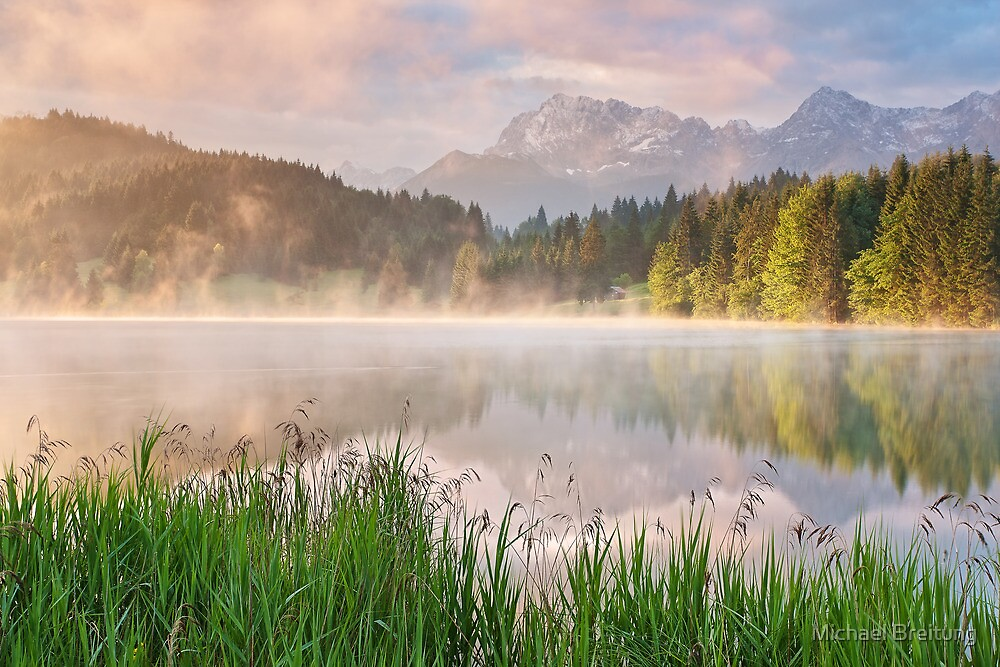 Karwendel Reflections by Michael Breitung