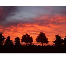 Flaming Sunset Photographic Print