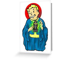 OUR LORD AND SAVIOR, VAULTBOY Greeting Card