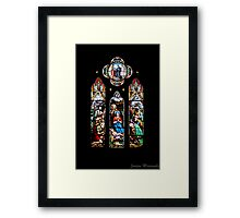 Stained Glass - St John's Framed Print