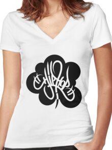 I Love Hip Hop Women's Fitted V-Neck T-Shirt