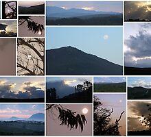 Moon/Clouds/Mountains - Maan/Wolke/Berge by Karlientjie