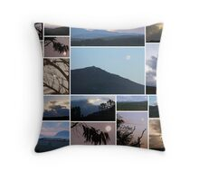 Moon/Clouds/Mountains - Maan/Wolke/Berge Throw Pillow