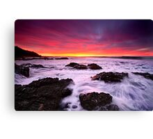 Red In The Morning-Blackhead-NSW Mid North Coast Canvas Print