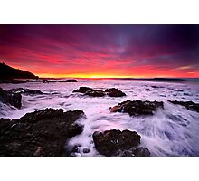 Red In The Morning-Blackhead-NSW Mid North Coast Photographic Print