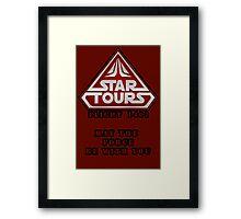 Star Tours 1401- RED Framed Print