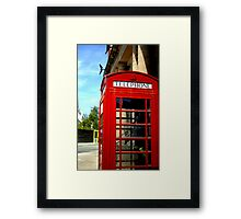 Telephone Box - Liverpool Framed Print