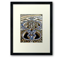 Interior detail in a mosque, Iran Framed Print