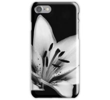 Black & White Lily iPhone Case/Skin