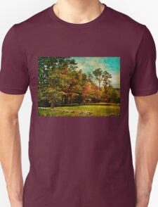 Living at the top of the mountain Unisex T-Shirt