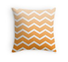 Orange Ombre Fade Chevrons Throw Pillow