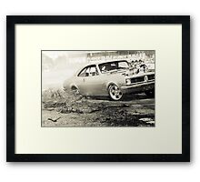 DIZYHG Tread Cemetery Burnout Framed Print