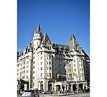 The  Fairmont Chateau Laurier Hotel, Ottawa, ON Canada Photographic Print
