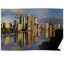 Brisbane River and City at dawn. Queensland, Australia. (11) Poster