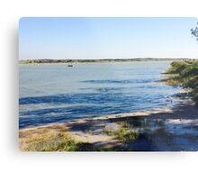 Rye harbour highest tide Metal Print