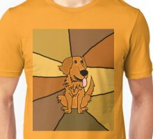 Funny Golden Retriever Puppy Abstract Unisex T-Shirt