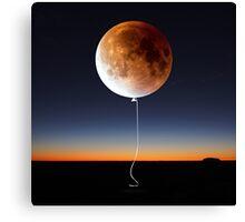 Red Balloon Moon Canvas Print
