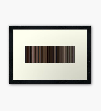 Moviebarcode: Back to the Future Part III (1990) [Simplified Colors] Framed Print