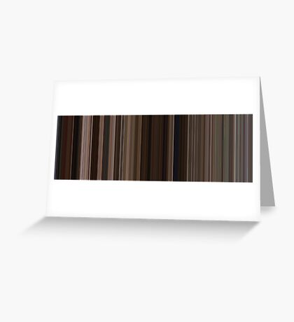 Moviebarcode: Back to the Future Part III (1990) [Simplified Colors] Greeting Card