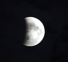 Eclipse of The Super Moon by Jeannie Mazur