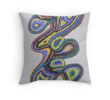 paisley path 3 Throw Pillow