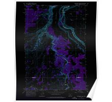 USGS Topo Map Oregon Steelhead Falls 281639 1962 24000 Inverted Poster
